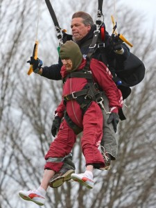 Things That Only Interest Wolf: 100-year old Elanor Cunningham of Howes Cave, NY celebrates her birthday by jumping from a perfectly good plane... Photo: Patrick Dodson, AP