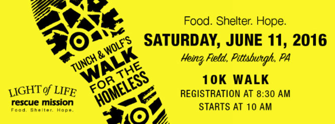 Tunch and Wolf's Walk for the Homeless 2016