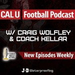 Cal U Football podcast Vulcans with craig wolfley and coach mike kellar