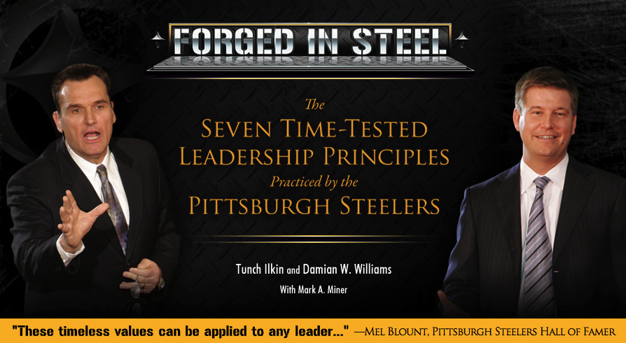 Forged in Steel Book by Damian Williams and Steeler Tunch Ilkin