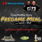 Tunch and Wolf Show Pregame Meal on Pittsburgh Podcast Network