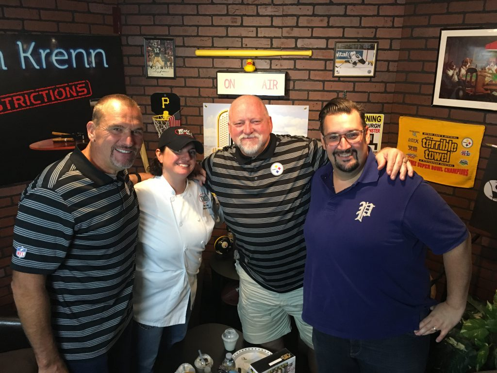Chefs Clare and Mike from Bill's Bar & Burger joined Tunch & Wolf in studio