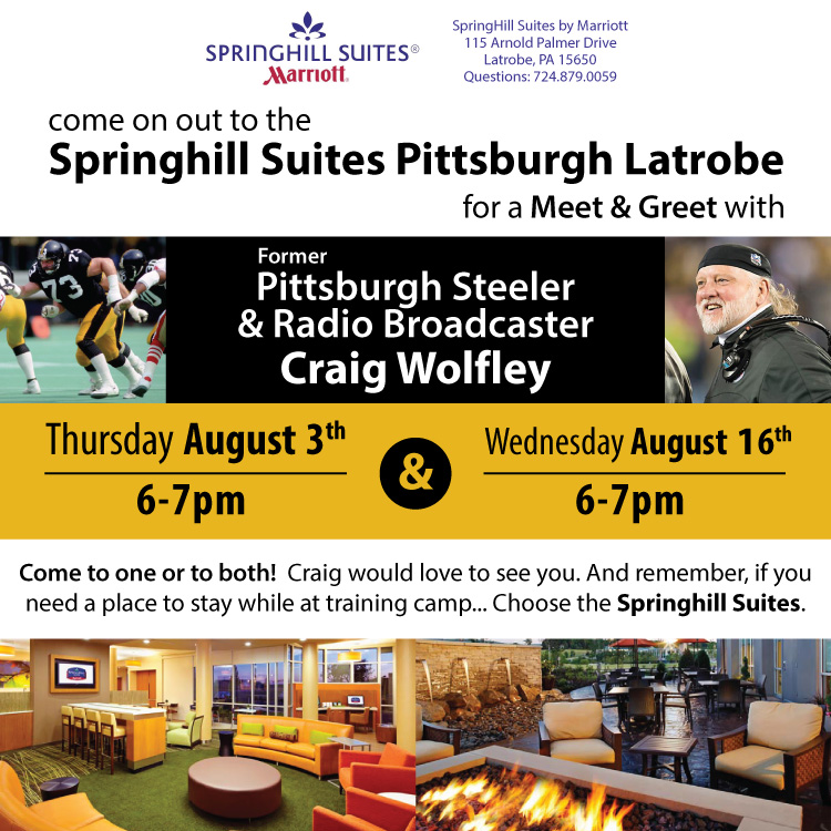 Craig Wolfley Steelers Training Camp Meet and Greet in Latrobe, PA at Springhill Suites